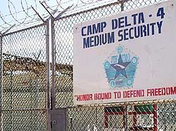 A gate inside Camp Delta