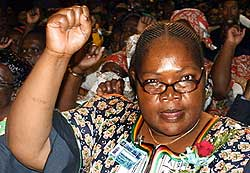 Water Resources Minister Joyce Mujuru