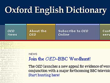 The Oxford English Dictionary's Web site