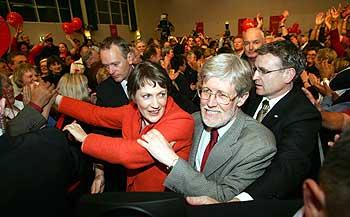 Prime Minister Helen Clark (center)