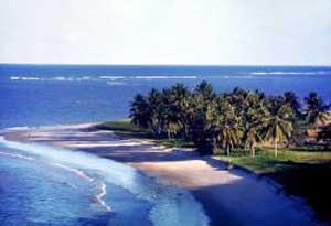 A beach in João Pessoa