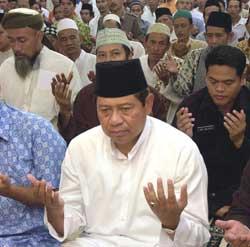 Newly elected Indonesian President Susilo Bambang Yudhoyono