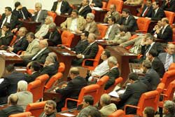 Turkish parliament session