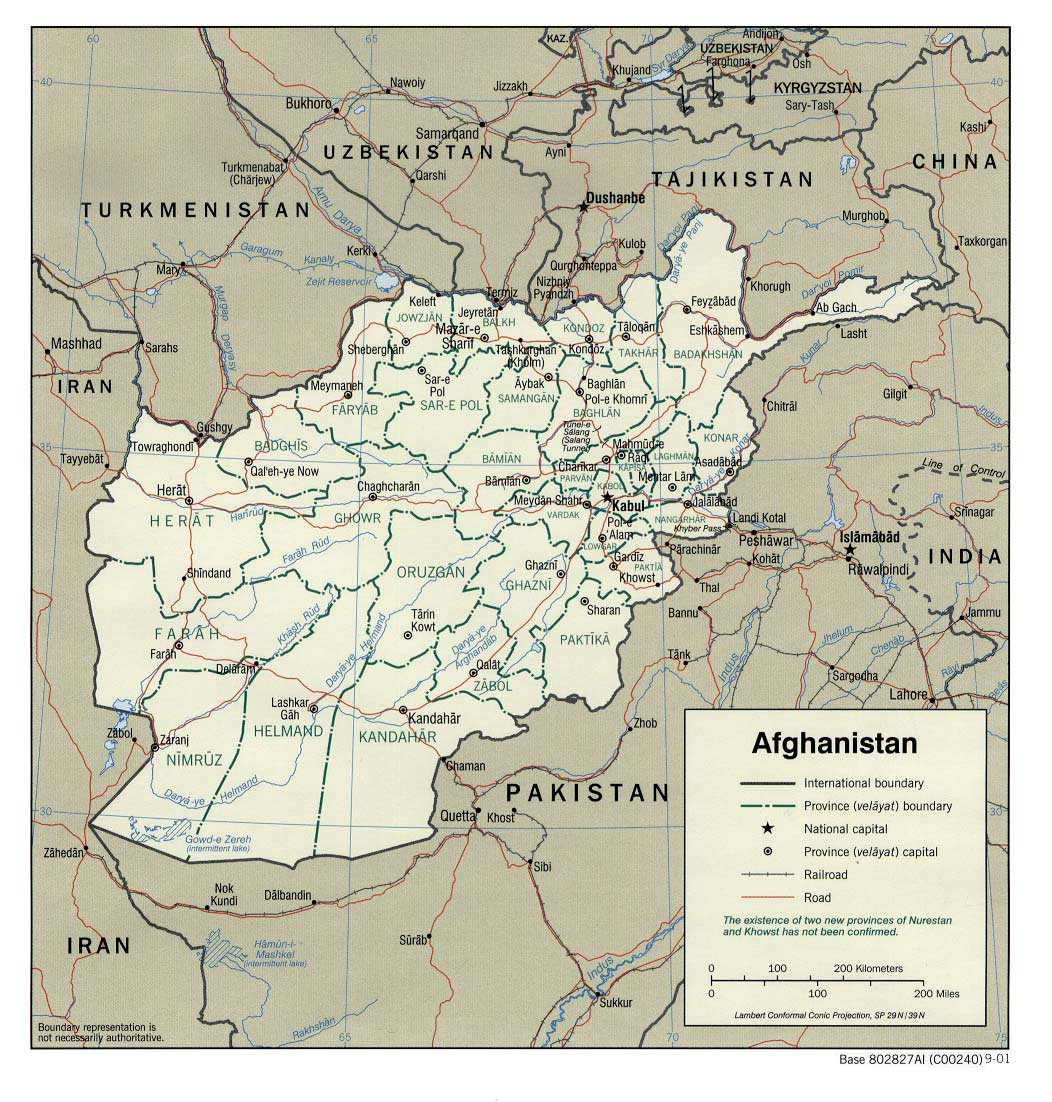 Map Of Afghanistan - Afghanistan political map