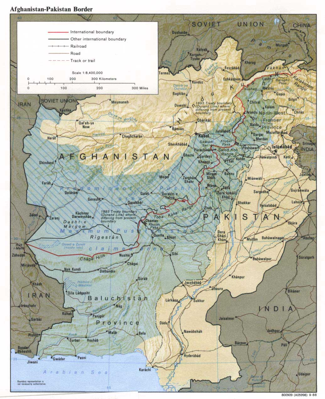 Map Of Afghanistan And Pakistan Map of Pakistan's Border with Afghanistan
