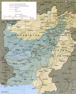 Map Afghanistan Pakistan