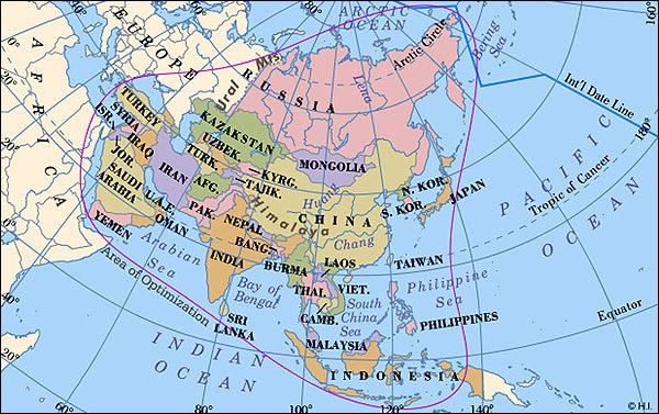 Worldpress world maps and country profiles map of asia nations of asia and the middle east gumiabroncs Gallery