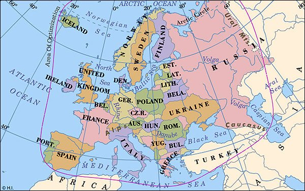 Worldpress Org World Maps And Country Profiles Map Of Europe