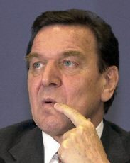 Chancellor Gerhard Schröder contemplates sending 3,900 German troops to aid the United States in Afghanistan